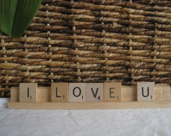I LOVE U sign, scrabble tiles, show your love with this cute sign