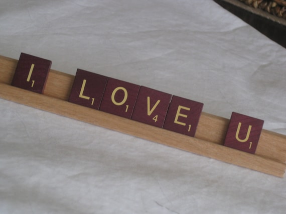 Superb I Love U Sign With Burgundy Scrabble Tiles Show Your Love With This Cute Unique Sign Uwap Interior Chair Design Uwaporg