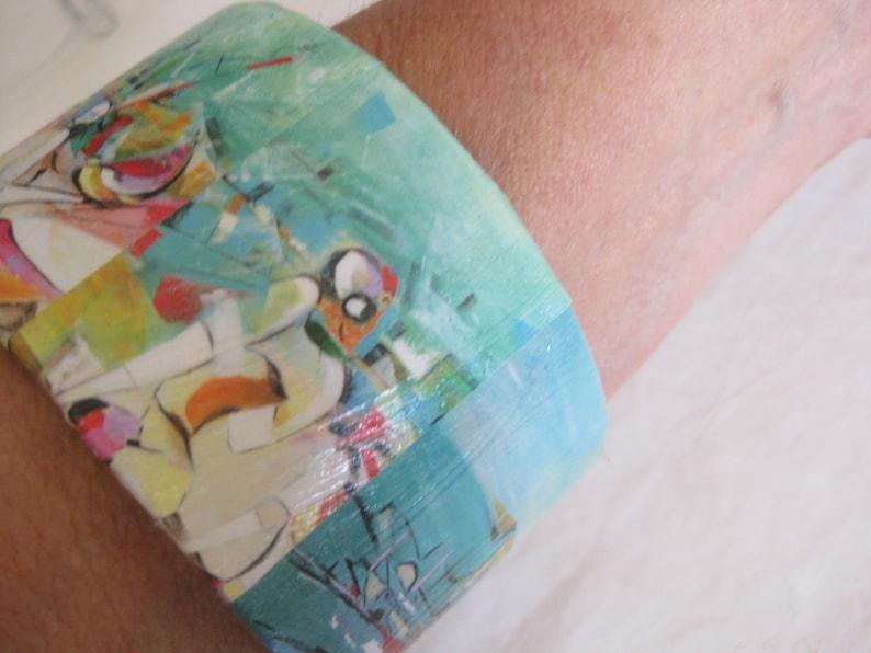 BD upcycled mothers day Bangle bracelet teachers gift unique