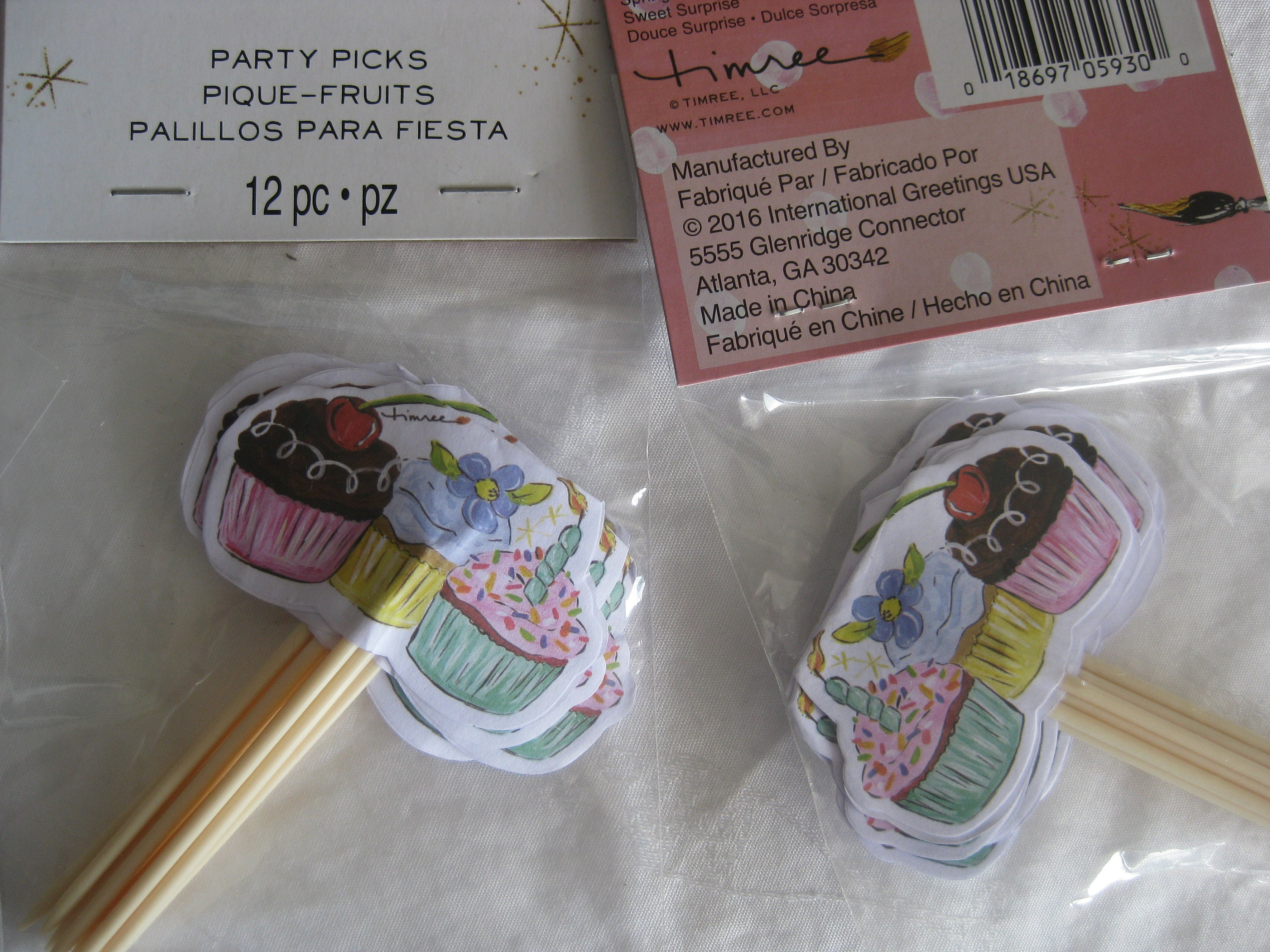 Party Picks Cupcakes 2 Packages 12 Picks Each 24 Picks Etsy