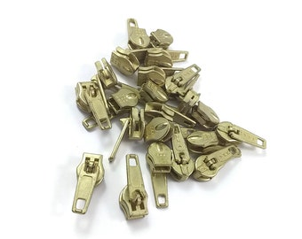 22 Gold YKK Zipper Pulls Sliders