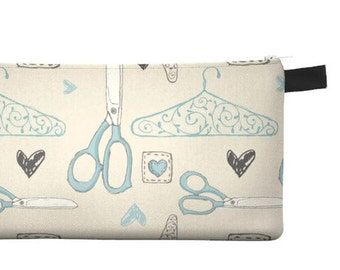 Sewing Notions Pencil Case - Free shipping USA and Canada