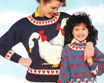 Jeunes de coeur- Livret de tricot vintage 1988