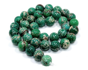 Natural Impression Jasper Green Stone Beads Strands 6 or 8mm Round