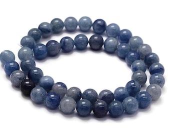 Blue Aventurine Round Stone Beads Strands 6 or 8mm