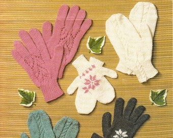 Vintage Bruneau Gloves and Mitts Knitting Pattern 3139
