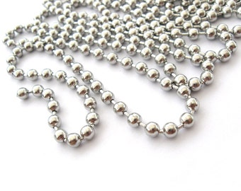 Big Stainless Steel Ball Chain 4mm - 10 feet