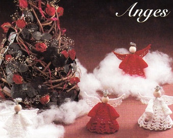 Crochet pattern angel christmas tree decoration