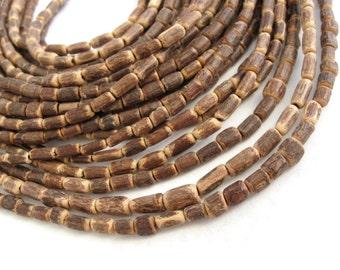 "Sigid Vine Wood Tube Beads 6mm - Eco Friendly Tube Beads 6mm - 16"" strand"