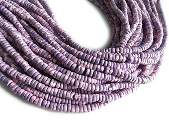150 coconut beads marblized lilac and pink splashing 4-5mm