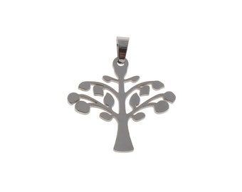 Tree pendant stainless steel DIY necklace pendant
