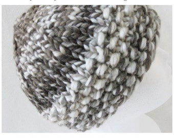 DIY Easy Knitting Hat Pattern - Thick & Quick Bulky Hat tutorial PDF e pattern for adult