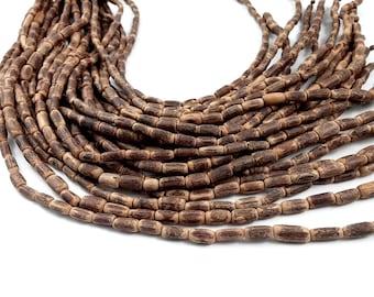 "Sigid Vine Wood Tube Beads 10mm - Eco Friendly Tube Beads 10mm - 16"" strand"
