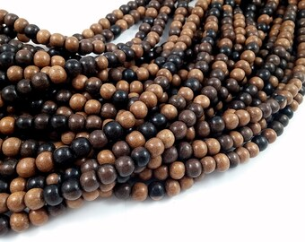 Exotic Tiger Camagong wood round beads - Natural Wooden Beads 8mm - 50pcs