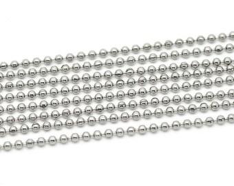 Stainless Steel Ball Chain 2.4mm - 10 feet