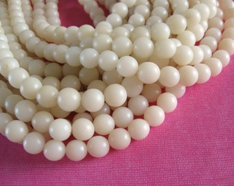 Natural beads 10 white  buri beads 10mm