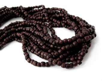 Brown Wood Beads 3mm round 200pcs - Natural wooden beads