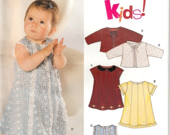New Look 6330 Pattern for babies's dress and jacket, uncut