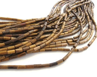 24 Robles Barrel Wooden Beads 4x8mm