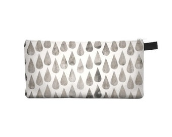 Grey Rainy Day Pencil Case - Free shipping USA and Canada