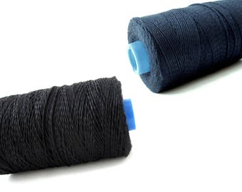 Black or Blue Bamboo Cord 1mm - 10 meters / 32.8 ft  (CB1)