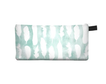 White Feather Pencil Case - Free shipping USA and Canada