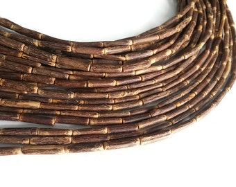 "Sigid Vine Wood Tube Beads - Eco Friendly Tube Beads 17mm - 16"" strand"