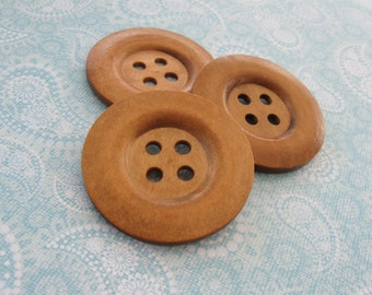 "Extra large button - 3 wooden buttons 50mm (2"")  (BB151C)"