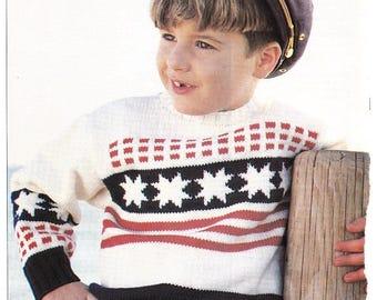 6 Modèles jacquards au tricot
