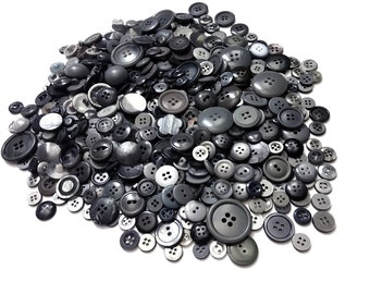 Huge Lot of grey vintage sewing buttons (500pcs)