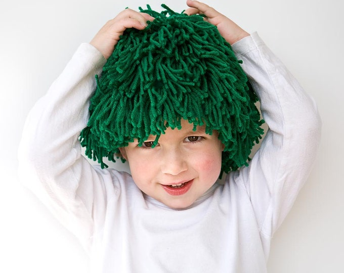 Featured listing image: PDF Sewing Pattern St Patricks Day Green Costume Yarn wig for party costume