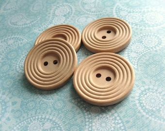 1.5 inch buttons - Natural wooden sewing buttons 38mm - set of 4  (BB132CC)