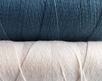 0.5mm Cotton Cord, Natural or Blue, 10 meters / 32.8 ft