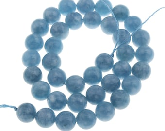 Blue Natural Quarz Round Stone Beads Strands 8 or 10mm