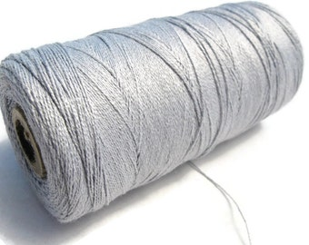 Macrame Bamboo Cord 0.7mm - 10 meters / 32.8 ft - Light Grey