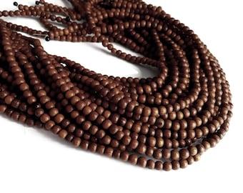 Bayong wood beads 85 exotic wood beads 4-5mm