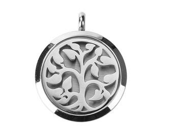 Stainless Steel Aromatherapy Essential Oil Diffuser Locket Pendants - Flower Vine