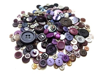 Huge Lot of purple vintage sewing buttons