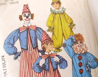 Halloween diy Simplicity 7162 Pattern for adult's clown costumes, medium