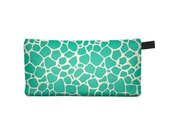 Green Giraffe Pencil Case - Free shipping USA and Canada