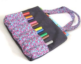 DIY Markers Bag Sewing Pattern - Art bag for children tutorial PDF download ePattern