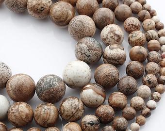 Natural Jasper Stone Beads Strands 6 or 8mm Round