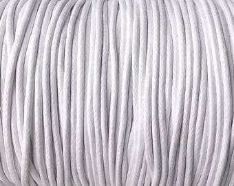 Black or White Waxed Linen Cord 2mm - 5 yards / 15 ft