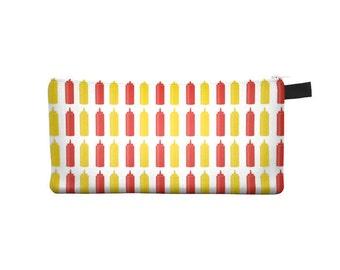 Ketchup Mustard Pencil Case - Free shipping USA and Canada
