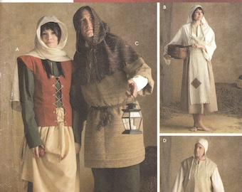 One dollar SALE UNCUT Historical Renaissance costume Size XS to Xl Simplicity sewing pattern 3806
