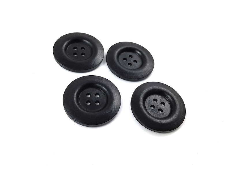 New 6 x Black Coat Buttons  Free P/&P 35mm