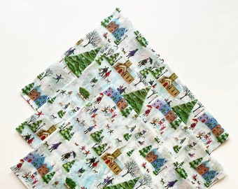 WINTER WONDERLAND tissue paper sheets gift present wrapping craft supply retail store packaging holiday green red festive Christmas tree