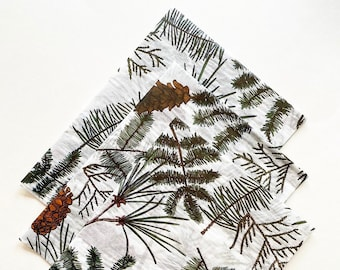 HOLIDAY PINE tissue paper sheets gift present wrapping craft supply retail store packaging holiday green festive Christmas forest woodland