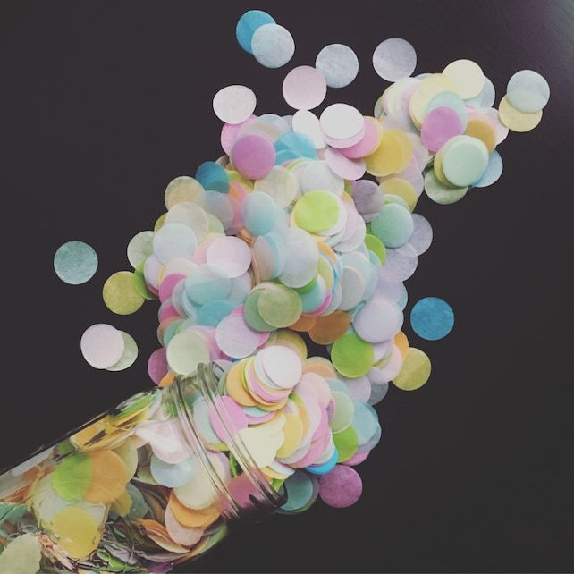 PASTEL RAINBOW tissue confetti cake dessert bar buffet table party fetti tossing floating exit toss first birthday girl decor baby sprinkle