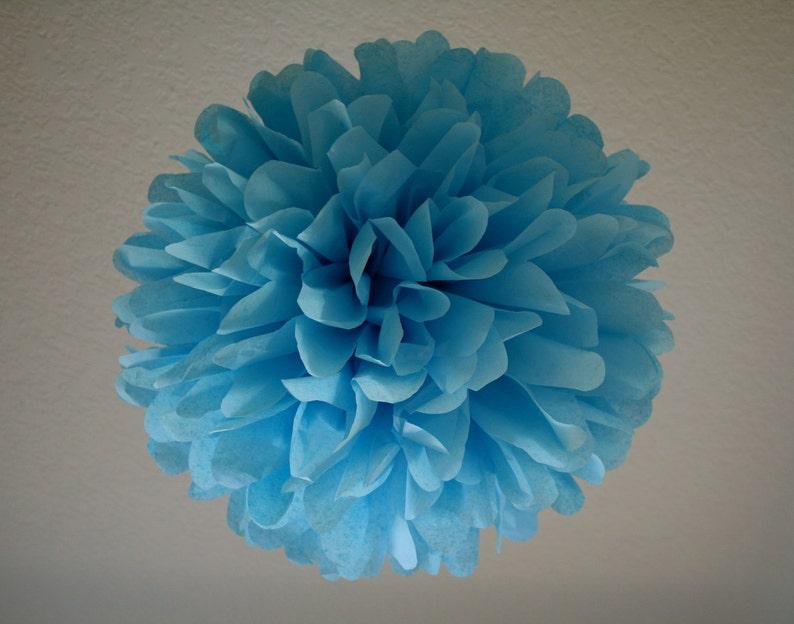 Cornflower Tissue Pompom Light Blue Wedding Decorations Boy Etsy